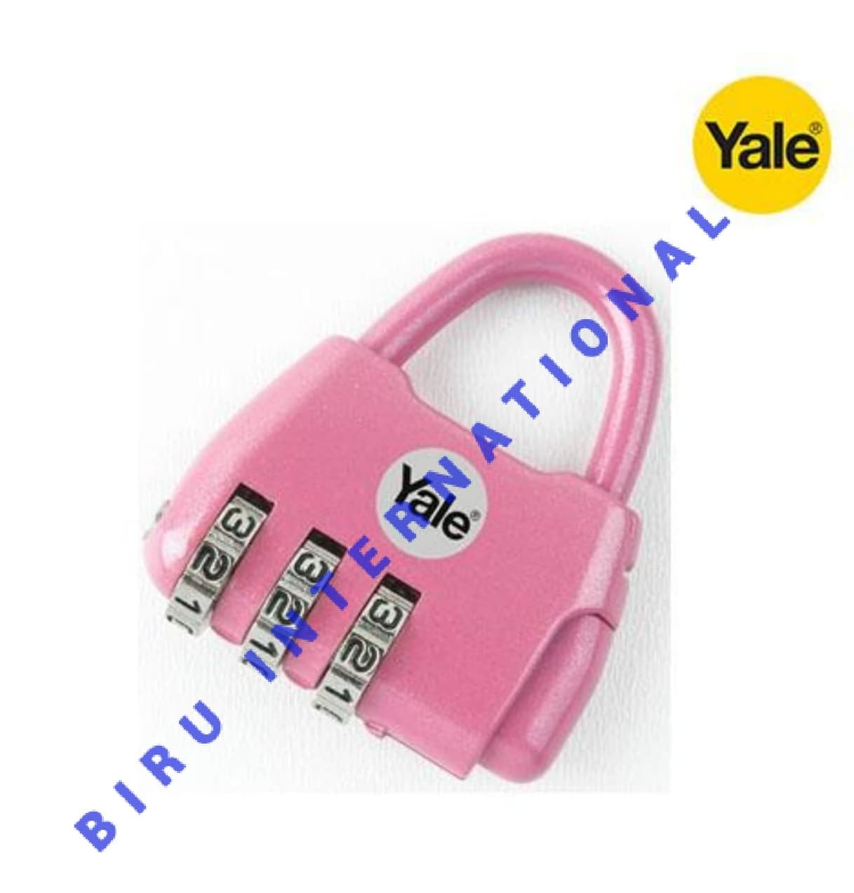 Gembok Yale Y - Novelty - 2 Travel Lock PINK - ORI