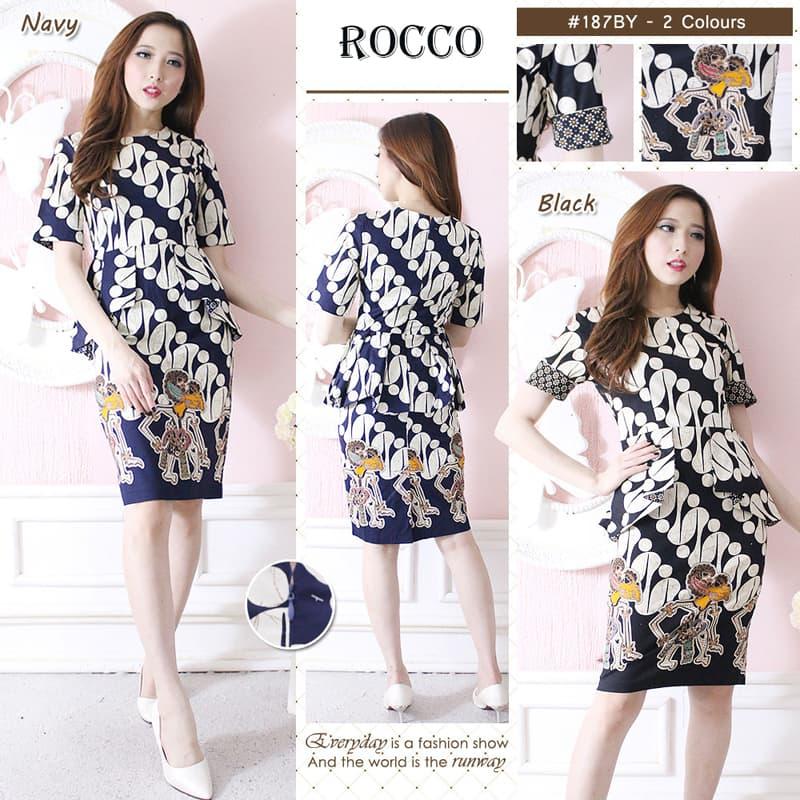 ROCCO STANDAR - DRESS Batik Modern GAUN Batik Baju Cheongsam Murah