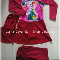 Baju renang anak muslim / hijab set ( stelan & hijab ) anak tanggung