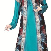 setelan gamis sifon-jersey, dress wanita, blouse perempuan muslim
