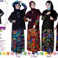 Winania - Gamis Spandex Balon Rompi Denim - Jual Hijab & Busana Muslim