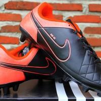 jual sepatu bola,futsal,Nike Tiempo SB 10 Hitam Orange
