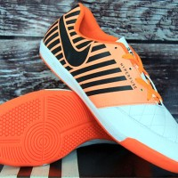 jual sepatu futsal,bola,Nike Lunar Gato II Putih Orange