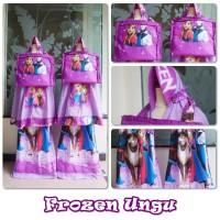Mukena Katun Anak Frozen Ungu Size S