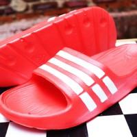 Sandal Adidas Duramo Merah Cabe ,Sendal,Selop,Nike,New Balance,Sport