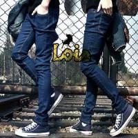 Celana Jeans Pria Lois Model Skinny (Slim Fit/Pensil) Biru Dongker