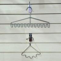 hanger besi sisir 5 sekat pashmina syal jilbab