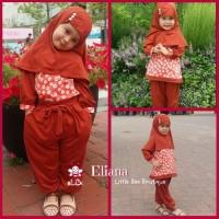 Jual baju muslim anak perempuan online | Elliana set 2 tahun