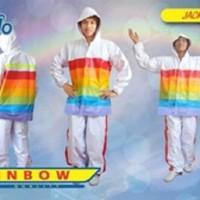 Jas Hujan Elmondo Jaket Celana Rainbow