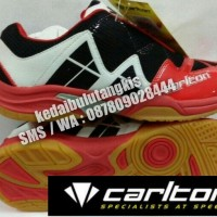 CARLTON PRO 6.0 ( WHITE RED ) SEPATU BADMINTON ORIGINAL