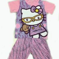 Baju tidur anak/setelan/piama anak/piyama kaos Hello Kitty 2,4,6