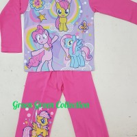 Baju tidur anak/setelan/piama anak/piyama kaos Little Pony Long 2,4,6