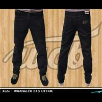 Celana Jeans Wrangler Regular Black 28 - 32 murah keren gaul baru u/ k