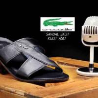 Sandal Pria Crocodile 100% Kulit Asli Sandal Jalit Santai Trendy #1