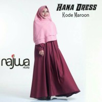 GAMIS ABAYA BALOTELI / 16WARNA / HANA DRESS BY NAJWA