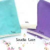 Jilbab Saudia Lace Square 115 x 115 Murah Best Seller