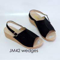 Sepatu Sandal Fashion Wanita Cewek Sendal Selop Wedges Keren Modis
