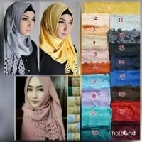 Pashmina Velvet Cuting Lasser/jilbab panjang polos hijab motif simpel
