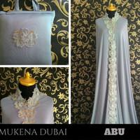Mukena Katun Cantik Mewah Elegan Murah Warna Abu