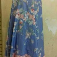 mukena katun jepang bella rosa biru RH