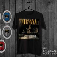 Kaos musik nirvana,live at reading,tshirt nirvana
