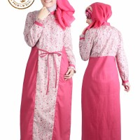 Baju Muslim Gamis Wanita Caladia / Dress Hijab Simple Busui Dewasa XXL