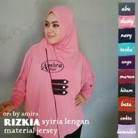 supplier baju hijab : jilbab syiria lengan rozkia ori
