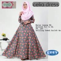 ZF CELIA DRESS(Jilbab,mukena,gamis wanita muslim,Gamis anak)