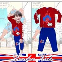 Baju Tidur Anak Spiderman | Setelan Piyama Anak Laki - Laki