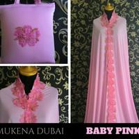 Jual Mukena Cantik Mewah Elegan Murah Warna Baby Pink