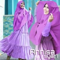 Gamis Syari Murah Annisa Ungu (cantik,terbaru,modis,modern)