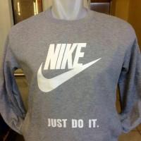 Jaket hoodie Nike Just Do It warna abu-abu terbaru