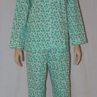baju tidur/piyama wanita jasmine flower lengan panjang cln panjang