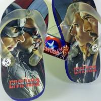 sandal jepit printing karakter civilwar