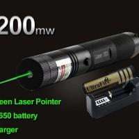 Jual Green Laser Pointer 303 Hijau Recharge battery 18650 Murah
