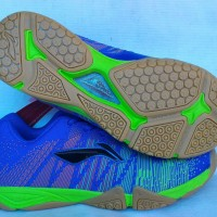 Sepatu Badminton / Bulutangkis Lining Bolt Blue/Green (New 2016)