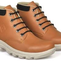 Sepatu boot coklat,Sepatu boot pria, sepatu distro