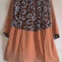 Blus Blouse Dress Lengan Panjang Coklat