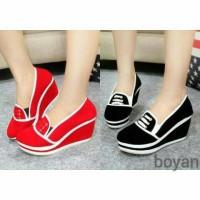 Sepatu Wedges Boots Casual Formal Sepatu Wanita Kerja Branded Jual