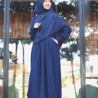 Gamis Ayumi Navy /Hijab Alila