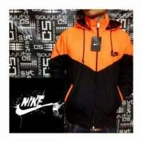Jaket Nike Parasut Orange Hitam