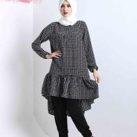 HNC LEANA TOP SQUARE 02 - Baju Wanita Muslim Atasan Busana Blus