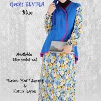 Elvira - Gamis Katun Jepang & Katun Rayon Baju/Wanita/Muslim/Gamis/Bus