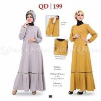 Baju Gamis Bahan Combed Qirani QD 199