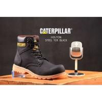 Sepatu Boots Caterpillar Hitam Murah/Safety Shoes Branded Berkualitas