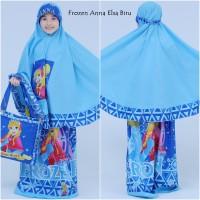 Mukena Anak Karakter Frozen Anna Biru (Size XXL)