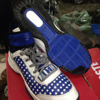 Sepatu Basket Adidas Dual Threat import vietnam white blue