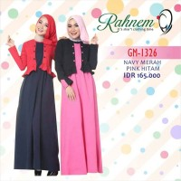 Gamis Rahnem GM 1326 / Dress Muslim Murah