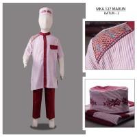 MKA127Marun(2-4tahun) baju koko anak gamis laki saffron