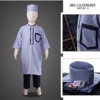 MKA126Dongker(11-13tahun) baju koko anak laki eksklusif